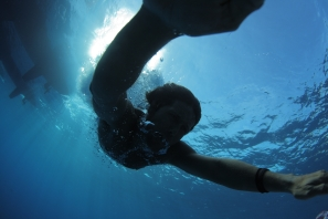 Catamaran diving