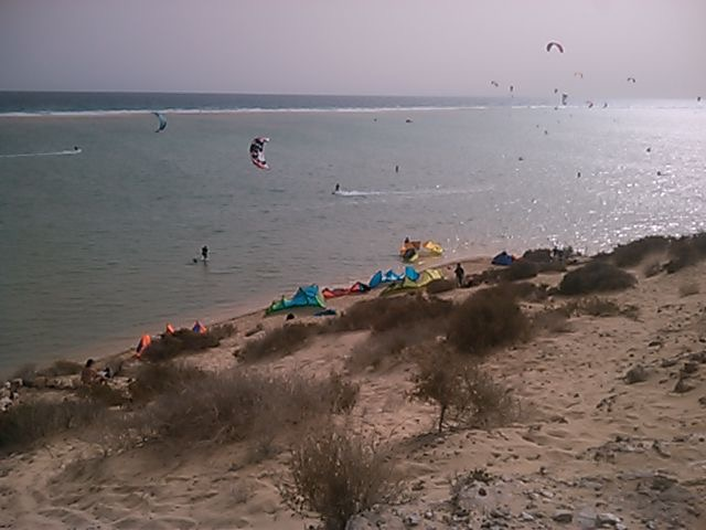 Lagoon kite session