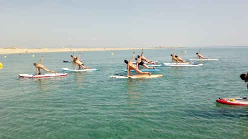 Stand Up Paddle Yoga by CBCM Boarder Club
