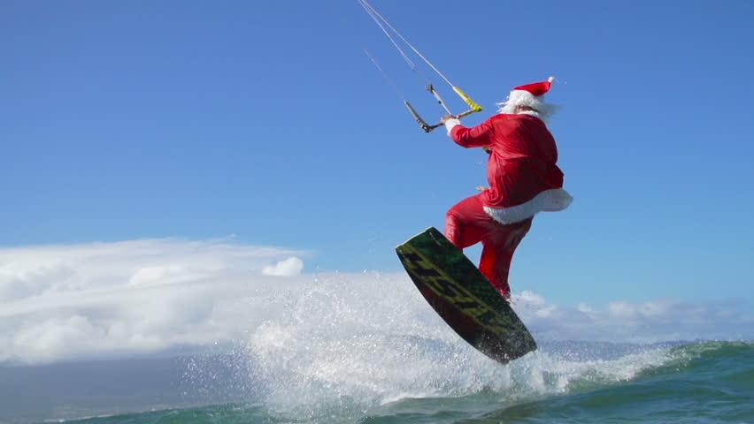 Santa Claus kitesurf