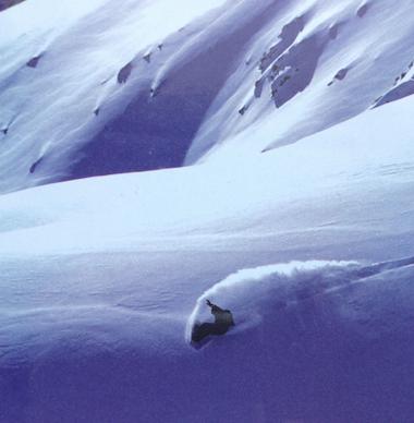 Snow Freeride Laurent Mora : Photo Paul Delgado